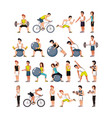 young athletes training sport with healthy vector image vector image