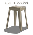 beige stool loft in interior design eps 10 vector image