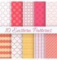 Eastern seamless pattern set vector image