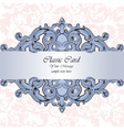 Invitation card with damask ornaments vector image