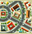 aerial top view flat design abstract city with vector image vector image