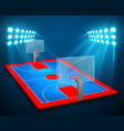 an perspective basketball arena field vector image