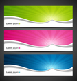 Banner design colorful vector image vector image