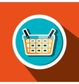 basket buy market shop vector image
