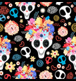 beautiful skulls vector image vector image