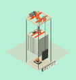 big building elevator concept background vector image