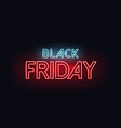 black friday neon text vector image
