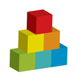 block tower vector image