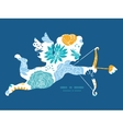 blue and yellow flowersilhouettes shooting vector image vector image