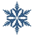Blue Snowflake Isolated On White Background vector image