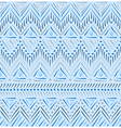 Blue tribal ethnic seamless pattern vector image vector image