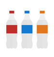 bottle water set bottle in flat style water vector image vector image