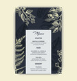 card for wedding invitation vector image vector image