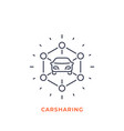carsharing icon mono line style vector image vector image