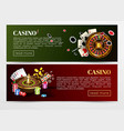 casino poker web banners templates vector image vector image