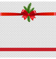 christmas background with xmas tree transparent vector image vector image
