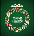 Christmas set of icons vector image vector image