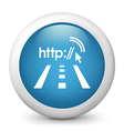 City Wifi glossy icon vector image vector image