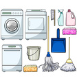 Cleaning objects vector image vector image