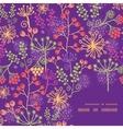 colorful garden plants frame corner pattern vector image vector image