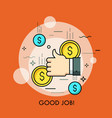 concept of good job approval successful vector image