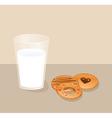 cookies with milk vector image vector image