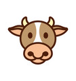 cow animal head icon vector image vector image