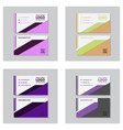 creative and clean business card template flat vector image vector image