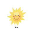 cute happy smiling sun symbol flat cartoon vector image vector image