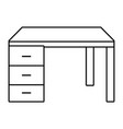 desk isolated icon black and white vector image vector image