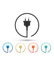 electric plug icon isolated on white background vector image