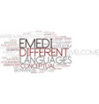 emedi word cloud concept vector image vector image