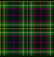emerald green plaid vector image vector image