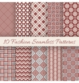 Fashion marsala color seamless pattern set vector image vector image