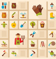 garden farm icons set vector image