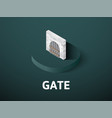 gate isometric icon isolated on color background vector image