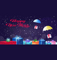 gift present boxes falling down with parachutes vector image vector image