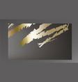 golden paint smear on dark background vector image vector image