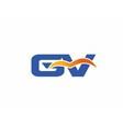 GV letter logo vector image vector image