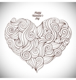 Hand drawn curled heart vector image