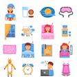 Healthy Sleep Flat Icons Set vector image vector image
