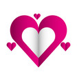 hearts love valentines card vector image vector image