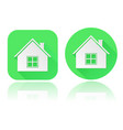 home icons round and square blue web signs vector image