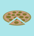 icon in flat design for restaurant pizza vector image vector image