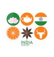 India Icon set vector image vector image