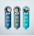 infographic concept 3 vertical arrow elements vector image