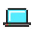 laptop pixel art cartoon retro game style vector image