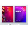 liquid color cover set fluid shapes composition vector image vector image