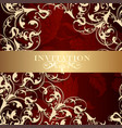 luxury invitation card in vintage style vector image vector image
