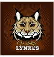 Lynxes - emblem vector image vector image